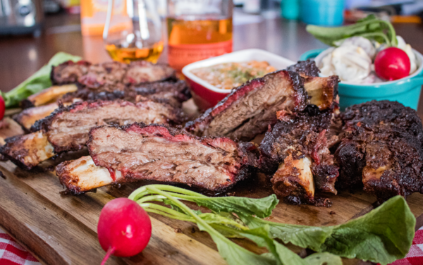 Picture of smoked Wagyu beef ribs